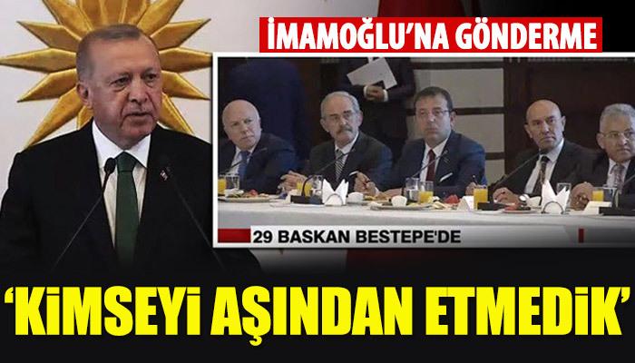 Cumhurbaşkanı Erdoğan'dan Ekrem İmamoğlu'na gönderme