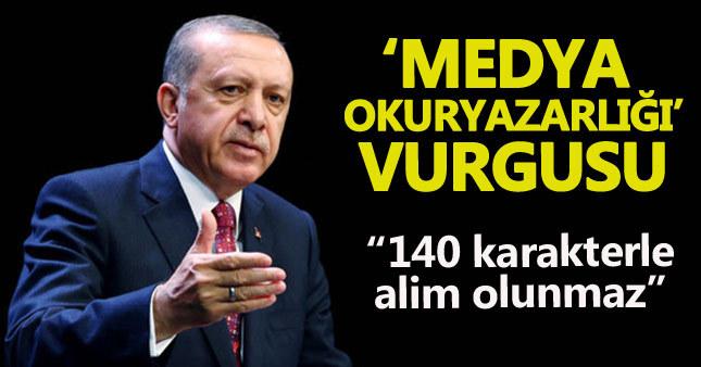 Cumhurbaşkanı Erdoğan'dan medya okuryazarlığı vurgusu
