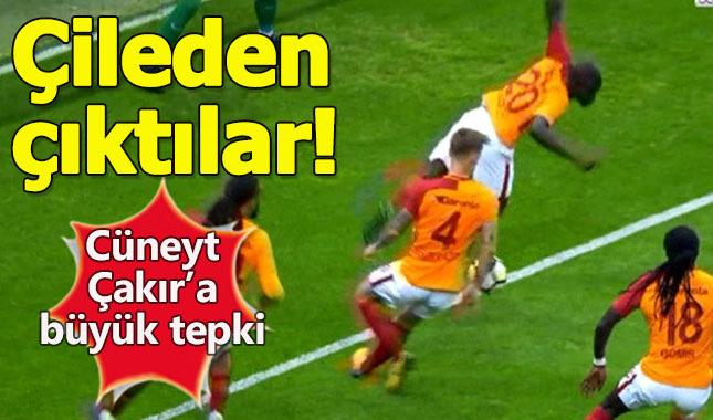 Cüneyt Çakır'ın vermediği penaltı çileden çıkarttı