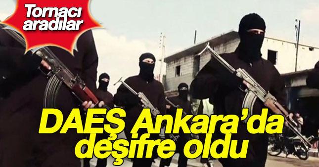 DAEŞ terör örgütü Ankara'da tornacı aradı