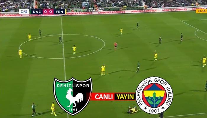 Denizlispor Fenerbahçe maçı canlı izle   bein sports 1 izle, şifresiz maç linki