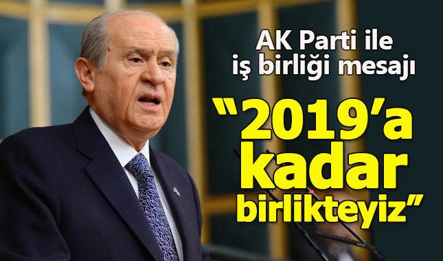 Devlet Bahçeli'den AK Parti ile işbirliği mesajı