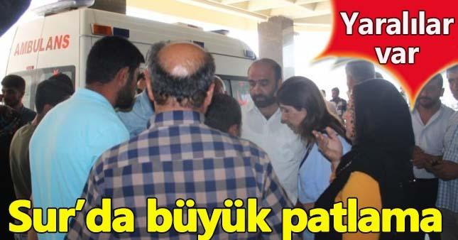 Diyarbakır'da büyük patlama! Yaralılar var