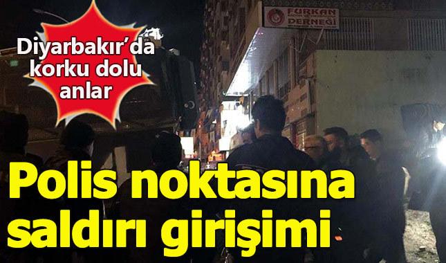 Diyarbakır'da polis kontrol noktasına bombalı saldırı