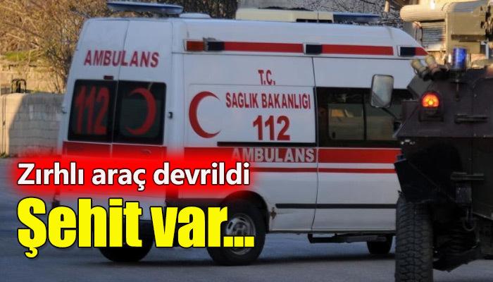 Diyarbakır'da zırhlı araç devrildi!