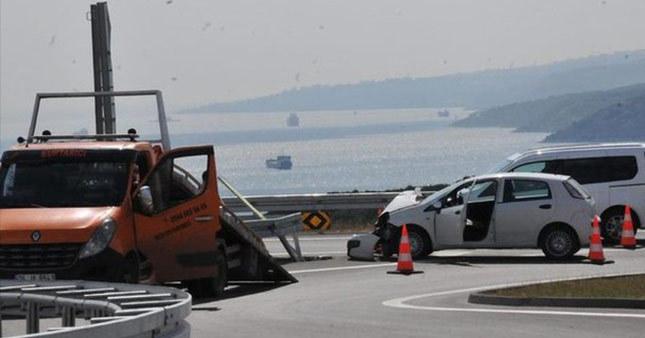 Dün açıldı bugün ilk kaza oldu
