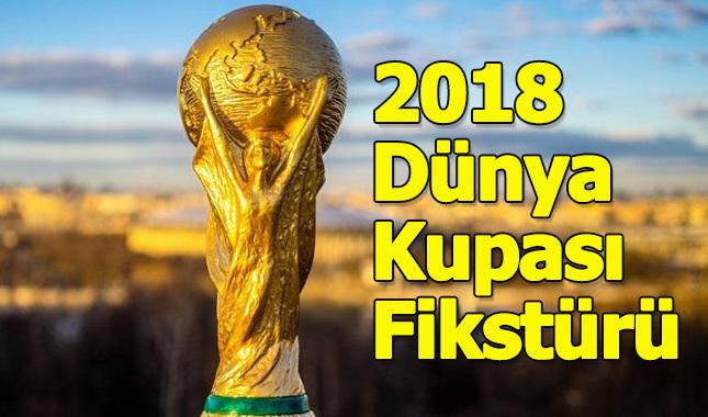 Dünya Kupası maç programı fikstürü - Hangi maç saat kaçta