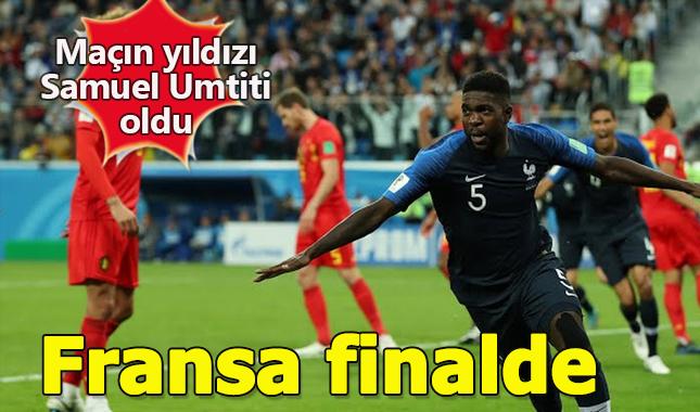 Dünya Kupası yarı final maçını Fransa kazandı