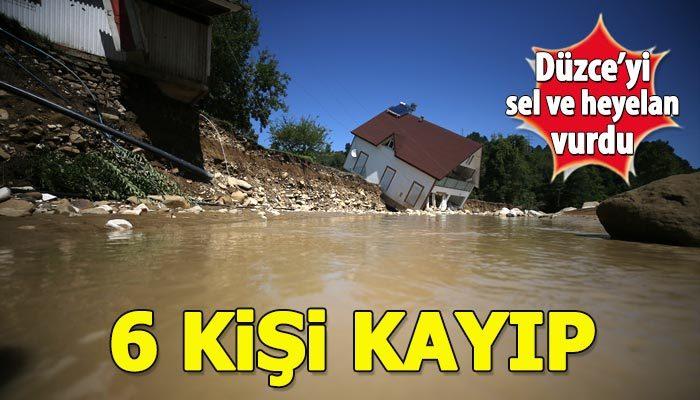 Düzce'de sel felaketi: 6 kişi kayıp!
