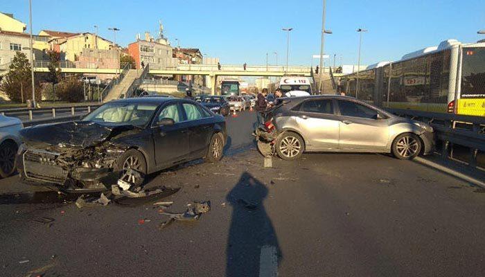 E-5 kara yolunda feci kaza! Trafik kilitlendi