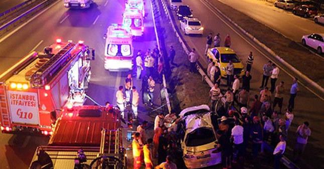 E-5'te feci kaza: 1 ölü, 5 yaralı