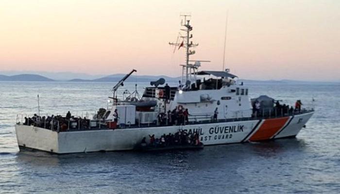 Ege'de 149 düzensiz göçmen kurtarıldı
