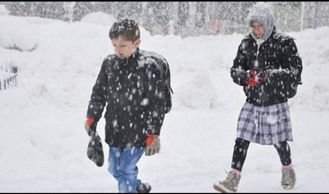 Eğitime kar engeli, iki ilde okullar tatil edildi