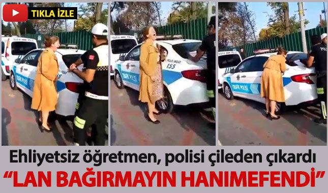 Trafikte ceza yazılan kadın uzun süre çığlık attı: Lan bağırmayın hanımefendi