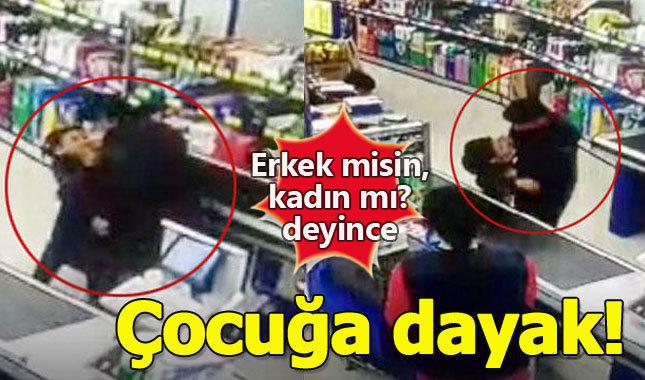 """Elazığ'daki bir markette kadın müşteriye """"Sen erkek misin-kadın mısın"""" diye soran çocuk"""