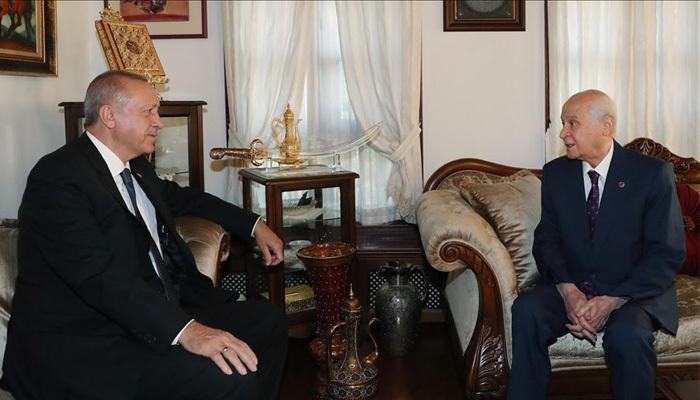 Erdoğan, Bahçeli'yi ziyaret etti