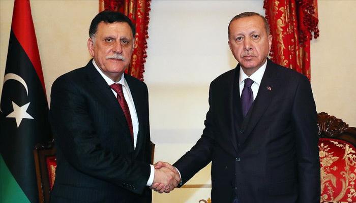 Erdoğan, Fayez Al Sarraj'ı kabul etti