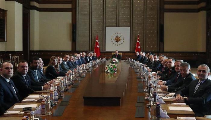 Erdoğan Kulüpler Birliğini ve beraberindekileri kabul etti
