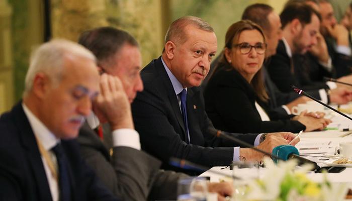 Erdoğan Yuvarlak Masa Toplantısı'nda