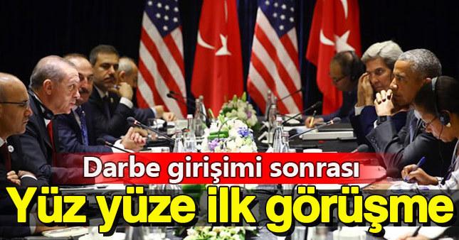 Erdoğan ile Obama arasında özel görüşme