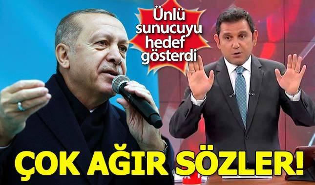 Erdoğan'dan Fatih Portakal'a çok ağır sözler