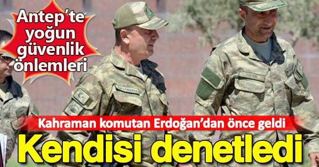 Erdoğan'ın ziyareti öncesi güvenlik tedbirlerini denetledi