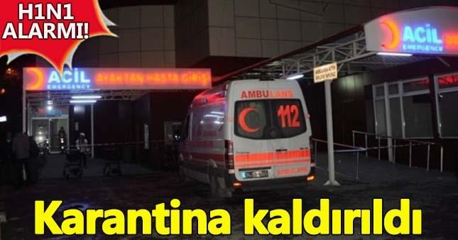Esenyurt Devlet Hastanesi'ndeki h1n1 karantinası kaldırıldı