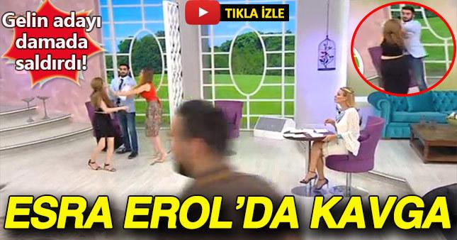 Esra Erol'un programında gelin adayı damada saldırınca yayın kesildi