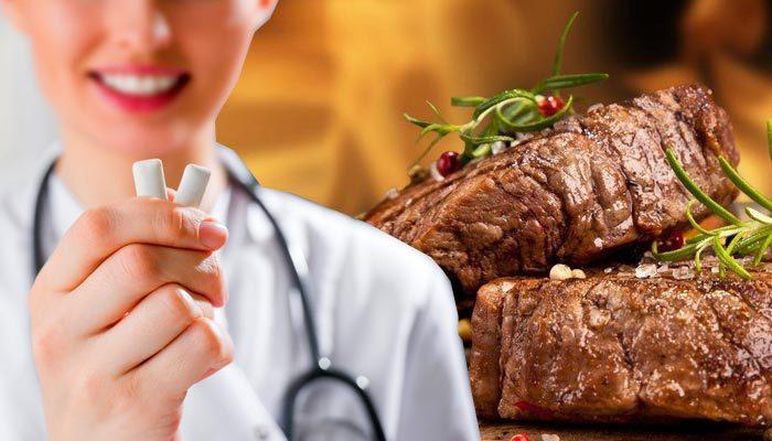 Et yedikten sonra şekersiz sakız çiğneyin