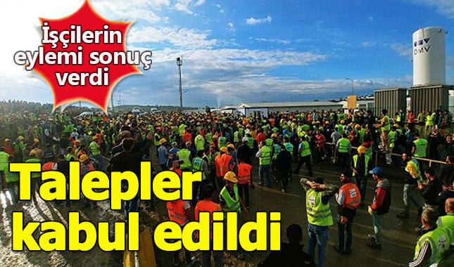 Eylem sonuç verdi havalimanı çalışanlarının talepleri kabul edildi