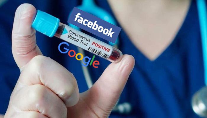 Facebook ve Google, korona virüsüyle mücadele ediyor