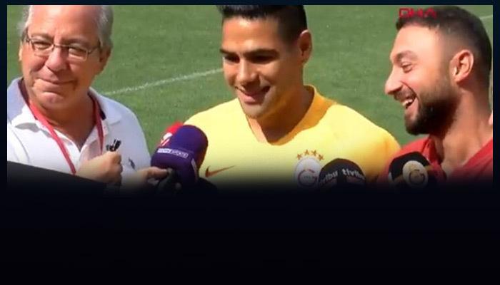 Falcao ilk röportajında Türkçe şov yaptı