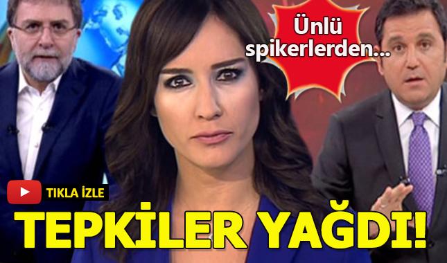 Fatih Portakal, Ahmet Hakan ve Nazlı Çelik'ten Taksiciler Odası Başkanı'na tepki!