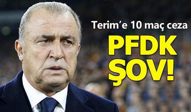 Fatih Terim'in cezası 10 maça çıkarıldı