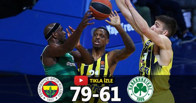 Fenerbahçe 79-61 Panathinaikos Maç Özeti basketbol (THY Euroleague)