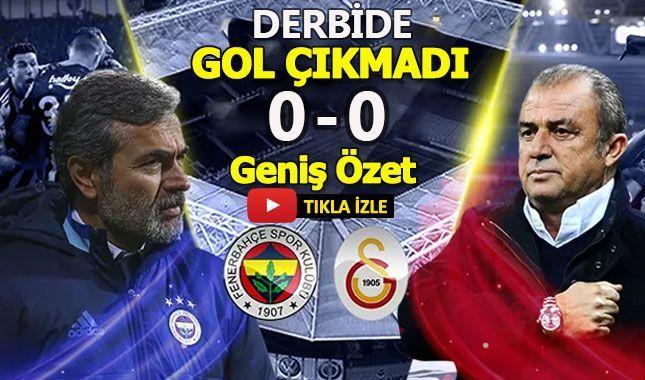 Fenerbahçe Galatasaray maçının geniş özeti