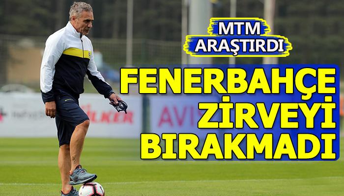 Fenerbahçe zirveyi bırakmadı!