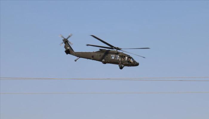 Fırat'ın doğusunda ilk ortak helikopter uçuşu gerçekleştirildi