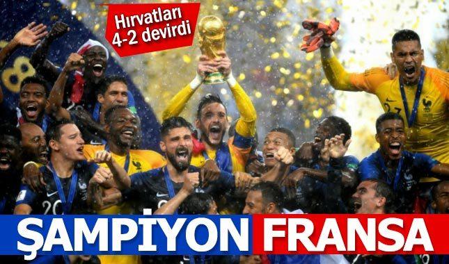 Fransa 4-2 Hırvatistan Maç Özeti - 2018 Dünya Kupası Final Maçı