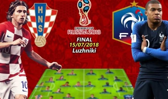 Fransa Hırvatistan final maçı ne zaman saat kaçta hangi kanalda