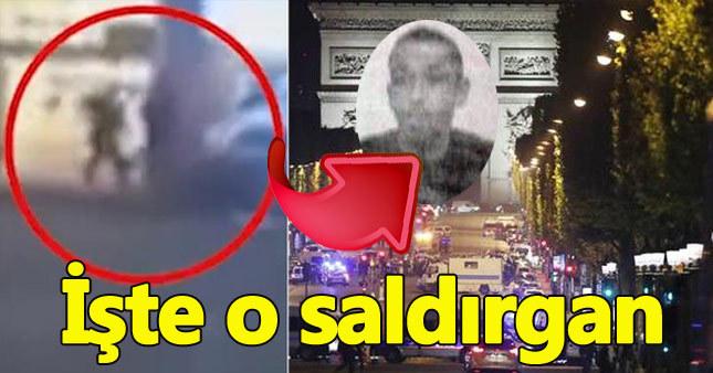 Fransa'da polise silahlı saldıran kişi böyle görüntülendi