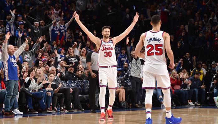 Furkan Korkmaz NBA'de kariyer sayı rekoru kırdı