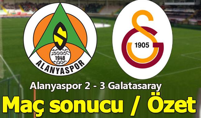 Alanyaspor 2 - 3 Galatasaray maçı sonucu özet izle