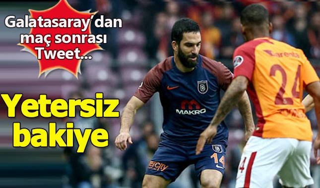 Galatasaray - Medipol Başakşehir maçı sonrası, Galatasaray'dan Tweet: Yetersiz bakiye