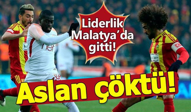 Galatasaray, Malatya'da liderliğe veda etti