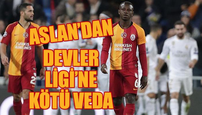 Galatasaray Şampiyonlar Ligi'ne facia ile veda etti