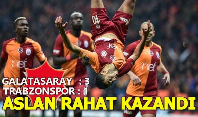 Galatasaray 3-1 Trabzonspor Geniş Maç Özeti