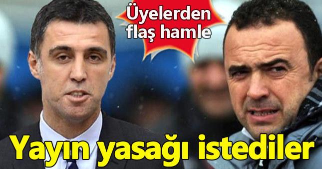 Galatasaray'da ihraç oylamasına yayın yasağı talebi