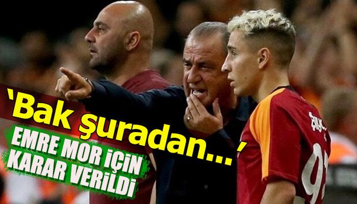 Galatasaray'dan Emre Mor için flaş karar!