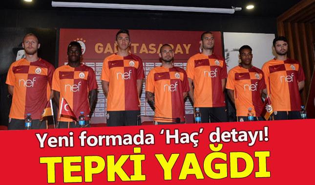 Galatasaray'ın yeni formasında tepki çeken 'haç' detayı
